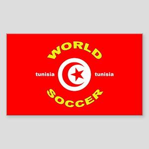 Tunisia World Cup 2006 Soccer Sticker (Rectangular