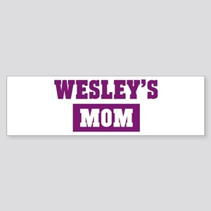 Wesleys Mom Bumper Sticker
