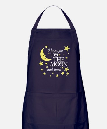 I love you to the moon and back Apron (dark)