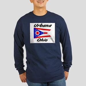 Urbana Ohio Long Sleeve Dark T-Shirt