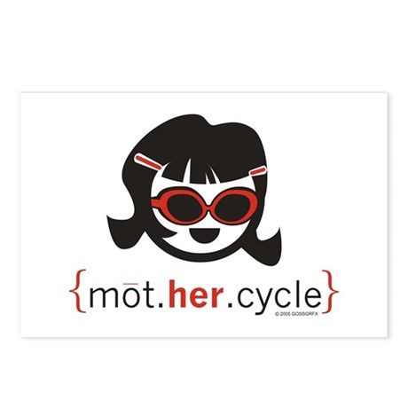 mot.HER.cycle Postcards (Package of 8)