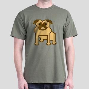 Pixelated Pug Dark T-Shirt