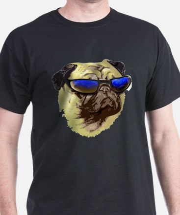 Cool Pug Black T-Shirt