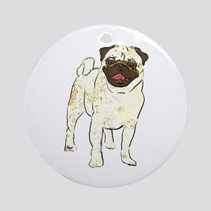 Happy Pug Keepsake (Round)