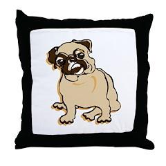Talk to the Pug Throw Pillow