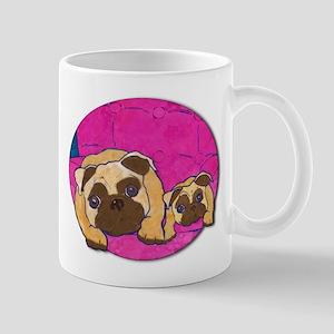 Two Pugs Together Mug