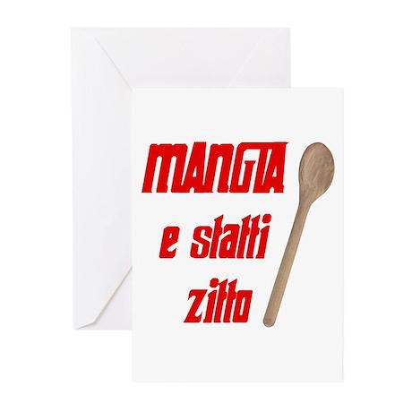 Mangia e Statti Zitto Greeting Cards (Pk of 20)