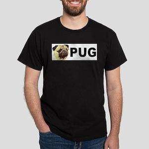 Pug Mug Black T-Shirt