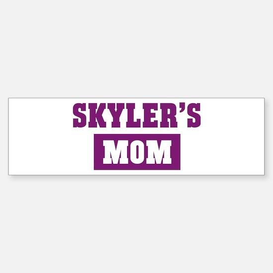 Skylers Mom Bumper Bumper Bumper Sticker