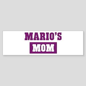 Marios Mom Bumper Sticker