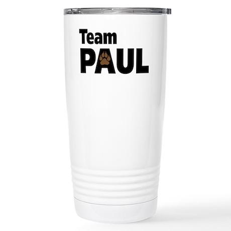 Team Paul Paw Print Stainless Steel Travel Mug