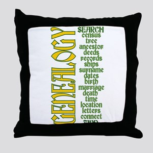 Genealogy List Throw Pillow