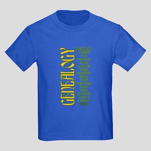 Genealogy List Kids Dark T-Shirt