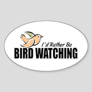 Bird Watching Sticker (Oval)