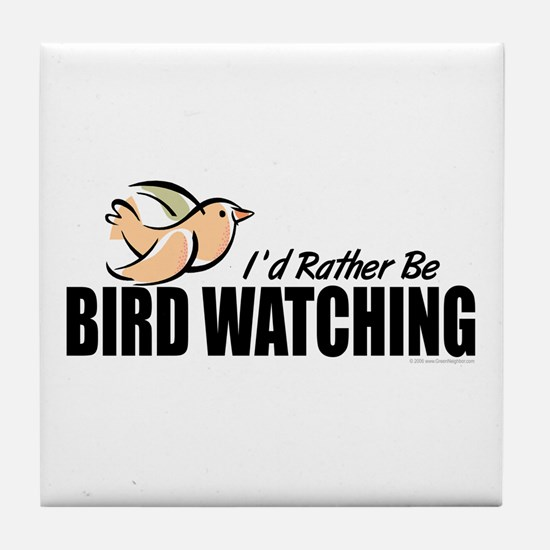 Bird Watching Tile Coaster