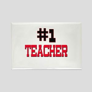 Number 1 TEACHER Rectangle Magnet