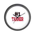 Number 1 TANNER Wall Clock