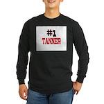 Number 1 TANNER Long Sleeve Dark T-Shirt