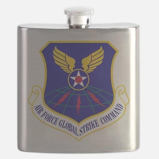 USAF Global Strike Command Badge Flask