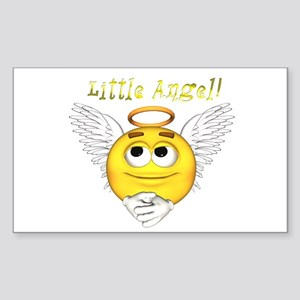 Little Angel Rectangle Sticker