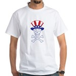 Li'l Uncle Sammy Skully White T-Shirt