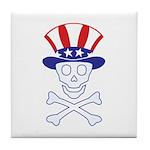 Li'l Uncle Sammy Skully Tile Coaster