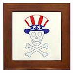 Li'l Uncle Sammy Skully Framed Tile
