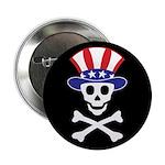 """Li'l Uncle Sammy Skully 2.25"""" Button (10 pack"""