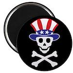 """Li'l Uncle Sammy Skully 2.25"""" Magnet (10 pack"""