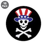 """Li'l Uncle Sammy Skully 3.5"""" Button (10 pack)"""