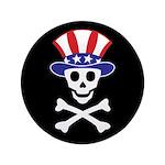 """Li'l Uncle Sammy Skully 3.5"""" Button (100 pack"""