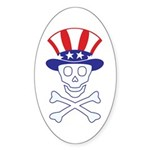 Li'l Uncle Sammy Skully Oval Sticker