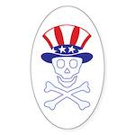Li'l Uncle Sammy Skully Oval Sticker (50 pk)