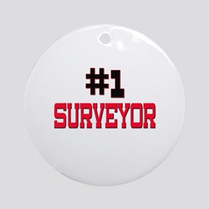 Number 1 SURVEYOR Ornament (Round)