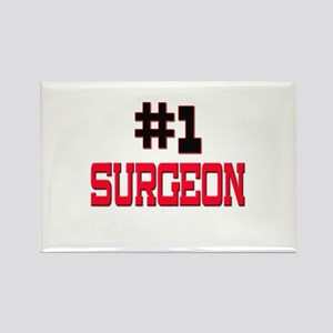 Number 1 SURGEON Rectangle Magnet