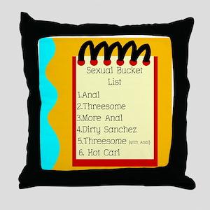 Sexual Bucket List Throw Pillow