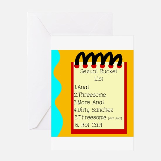 Sexual Bucket List Greeting Card