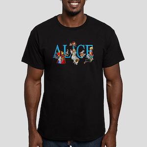 ALICE & FRIENDS IN WON Men's Fitted T-Shirt (dark)