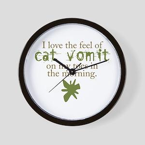 Cat Vomit Wall Clock