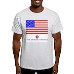 Dog Tracks Hidden in Flag Ash Grey T-Shirt