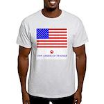 Cat Tracks Hidden in Flag Ash Grey T-Shirt