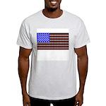 Cat Tracks Flag Ash Grey T-Shirt