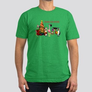 CHRISTMAS IS FOR THE BIRDS Men's Fitted T-Shirt (d