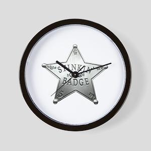 The Stinkin Badge Wall Clock
