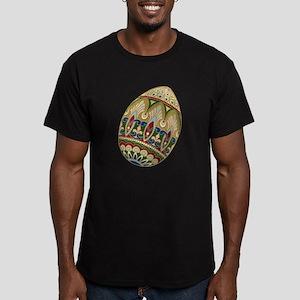 Ornate Easter Egg Men's Fitted T-Shirt (dark)