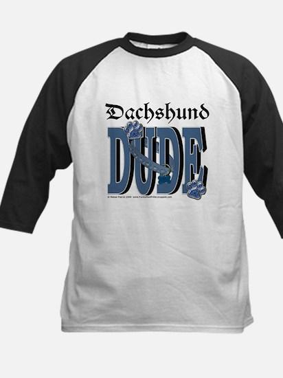 Dachshund DUDE Kids Baseball Jersey
