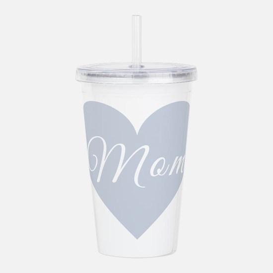 Mom Heart Acrylic Double-wall Tumbler