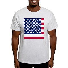 RED, WHITE & BLUE Ash Grey T-Shirt