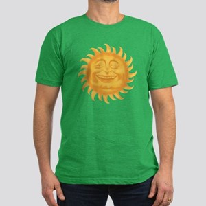 HERE COMES THE SUN Men's Fitted T-Shirt (dark)