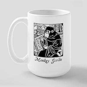 Monkey Scribe Mega Mug